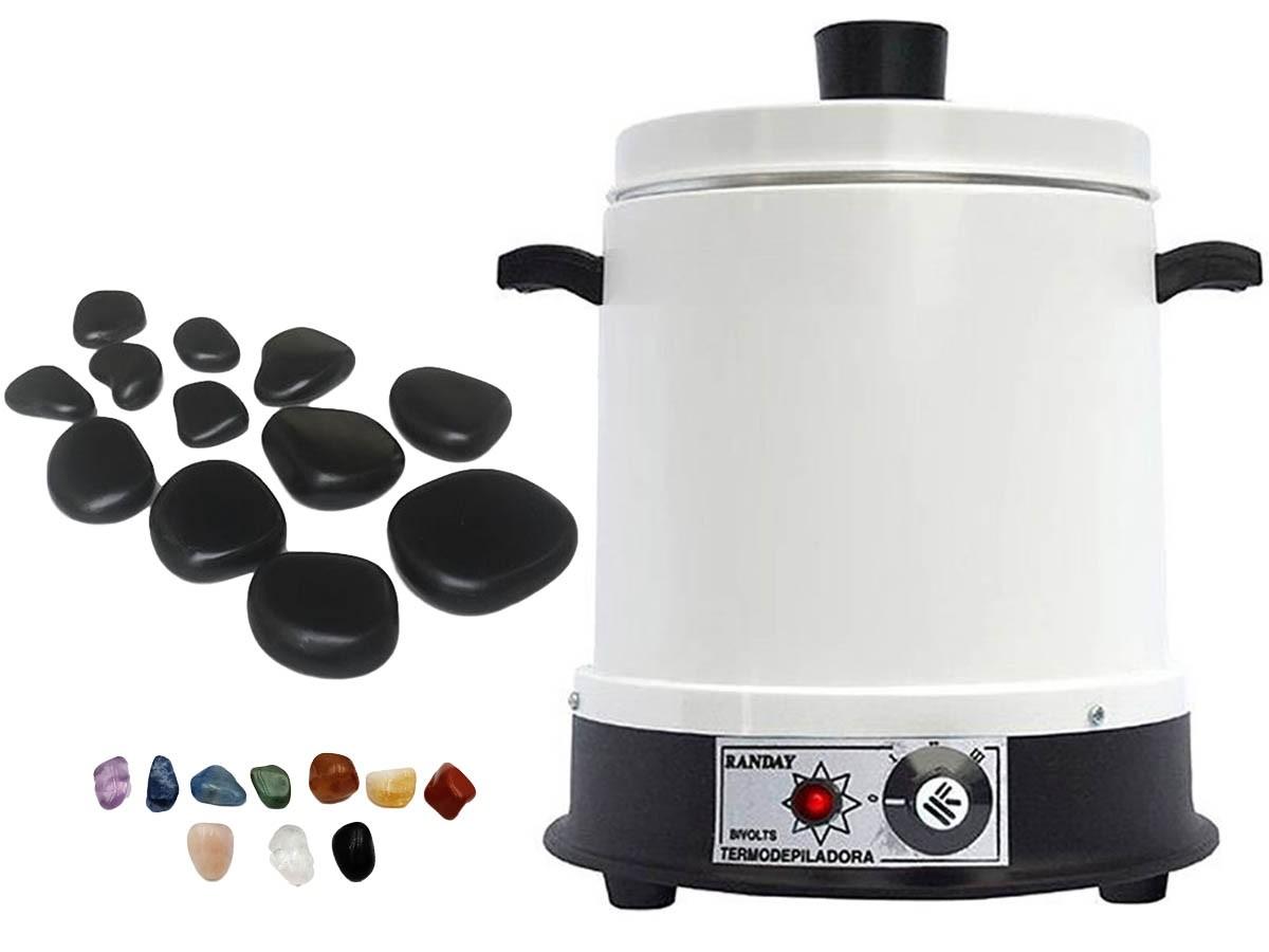 Kit para Massagem com Pedras e Aquecedor Bivolt