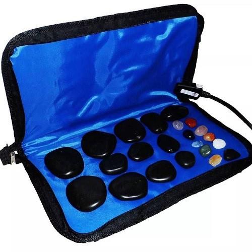 Kit para Massagem com Pedras Quentes Azul 110 Volts
