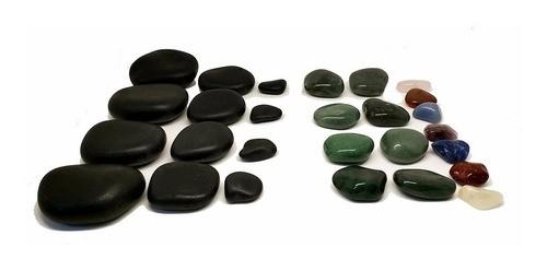 Kit para Massagens com Pedras e Cristais Novabelleza