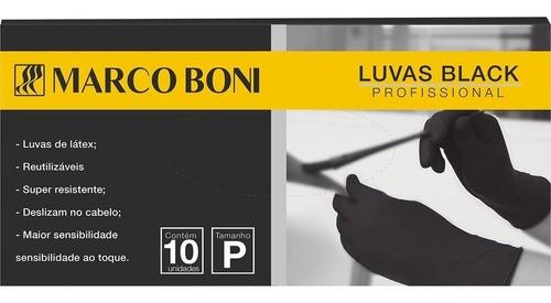 Luva Látex Black Cabeleireiros 10 Unidades Reutilizáveis Marco Boni