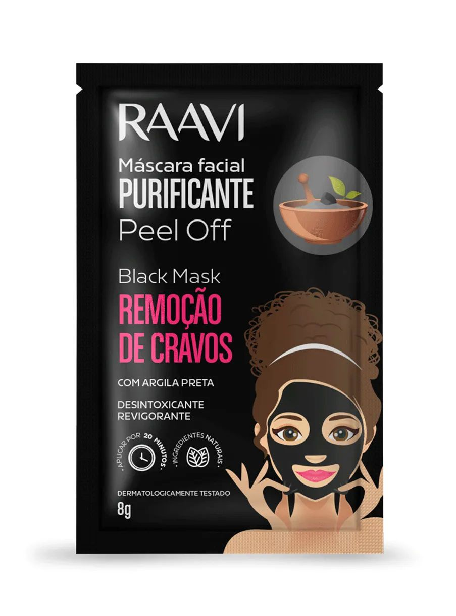 Máscara Peel Off Black Raavi