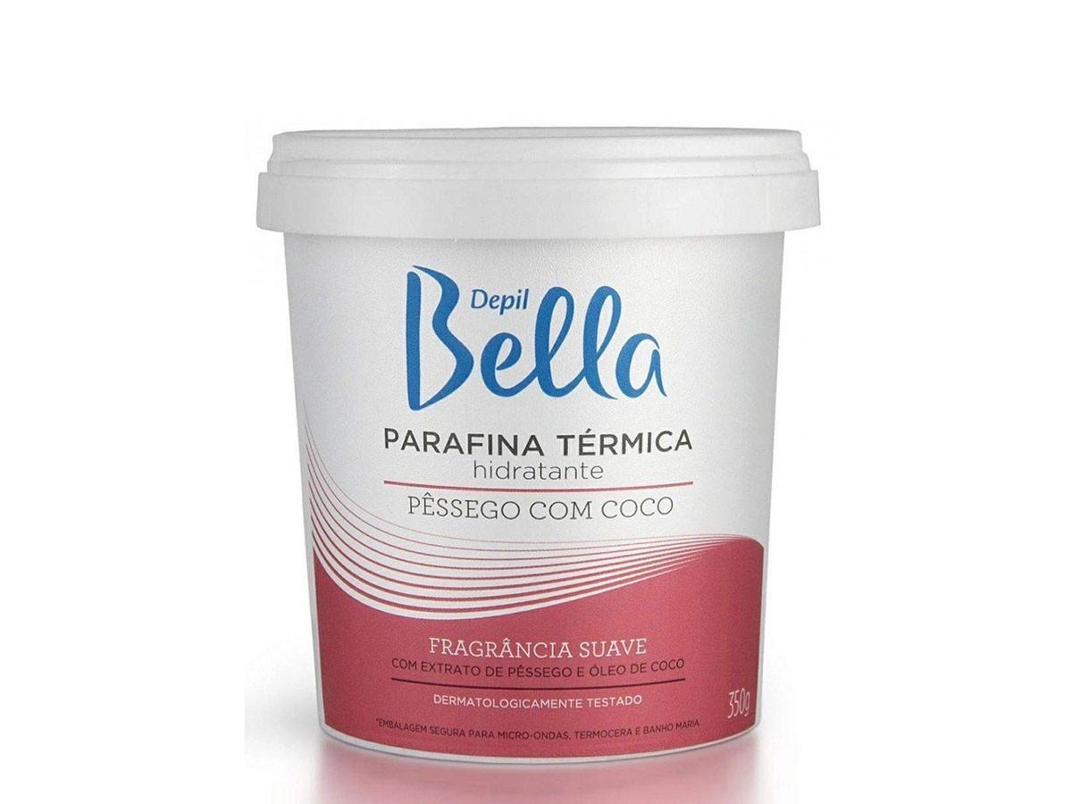 Parafina Térmica Hidratante Coco Pêssego 350g Depil Bella