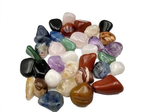 Pedras Brasileiras Mistas Roladas 1kg  2 cm