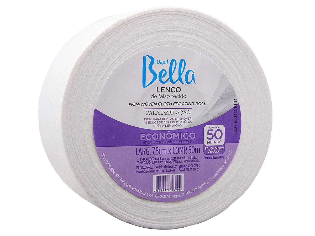 Rolo Lenço para Depilação 50 m Depil Bella