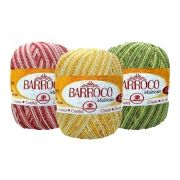 Barbante Barroco Multicolor Brilho Prata 200g