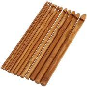Kit 12 Agulhas de Crochê Bambu