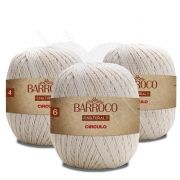 Kit Barbante Barroco Natural 700g - Círculo - (kit com 3 Novelos )