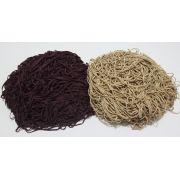 Tira de Macarrão/Espaguete 1.380g Bege e Vinho Escuro