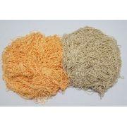 Tira de Macarrão/Espaguete 1.480g Amarelo Ouro e Bege