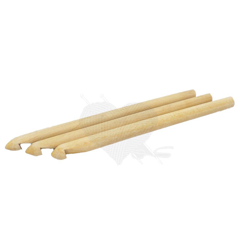 Agulha para Crochê de Bambu Artesanal N°12  - Bastex Artesanatos