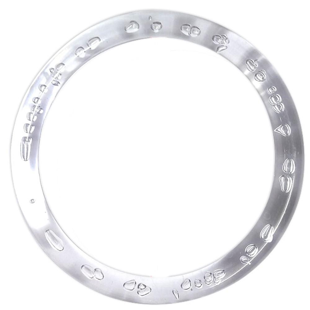 Alça Transparente Grossa para Bolsa Argola Acrílica 16cm - 1 Und