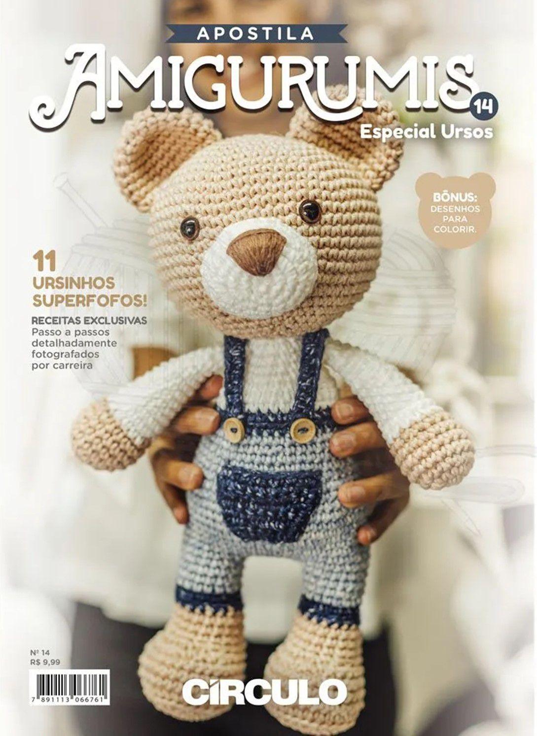 Apostila Círculo Amigurumis N° 14 - Especial Ursos