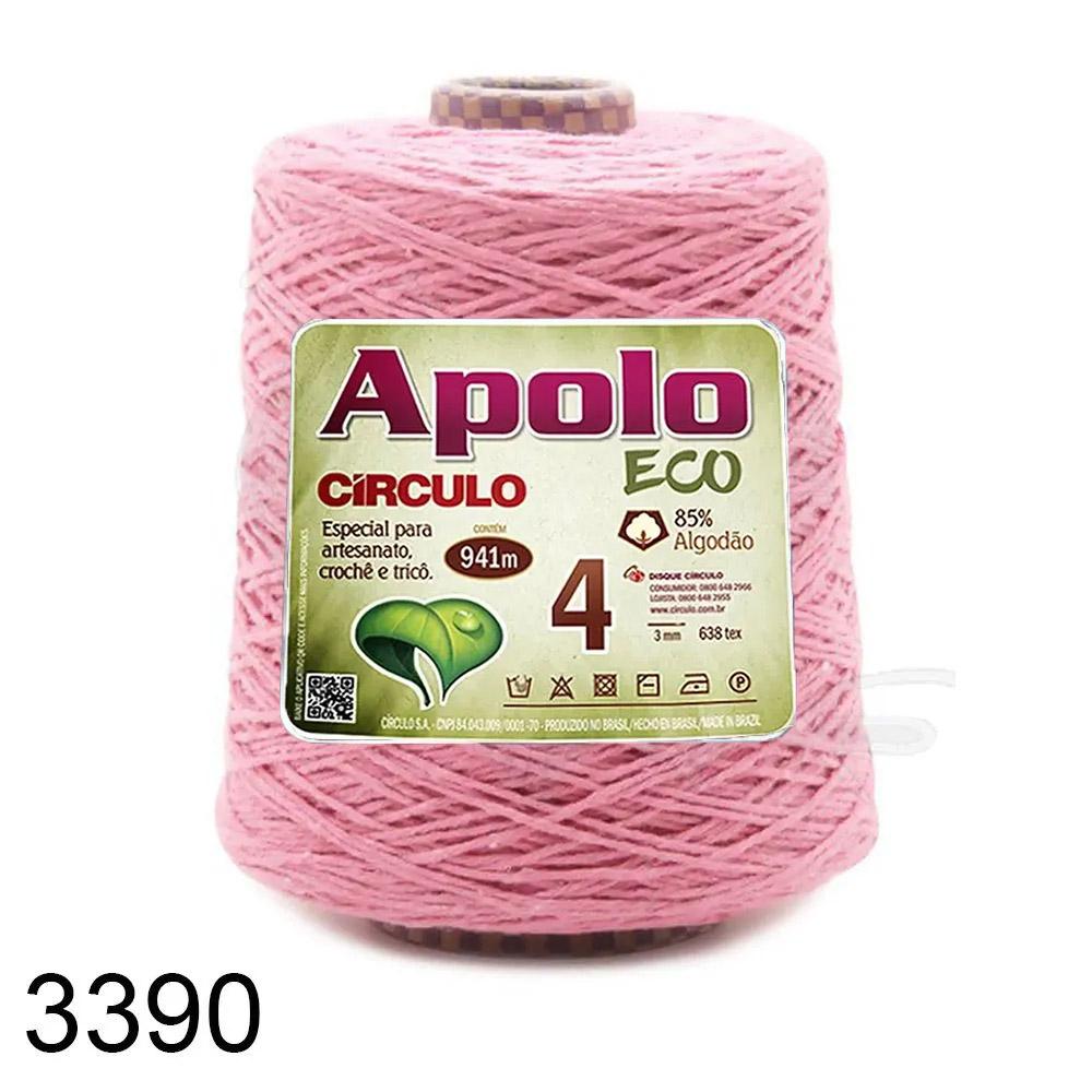 Barbante Apolo Círculo N°4 - 600g Cor 3390