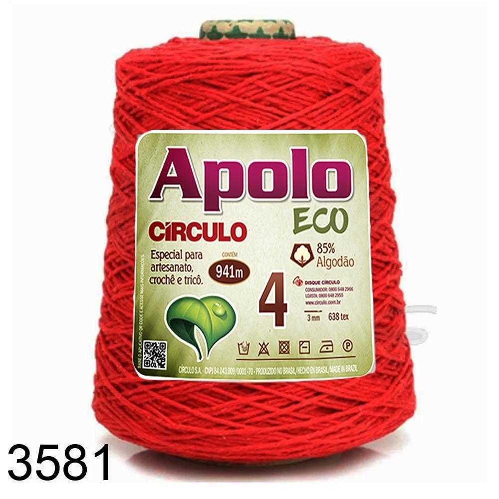 Barbante Apolo Círculo N°4 - 600g Cor 3581