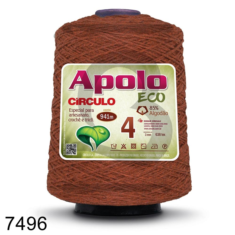 Barbante Apolo Círculo N°4 - 600g Cor 7496
