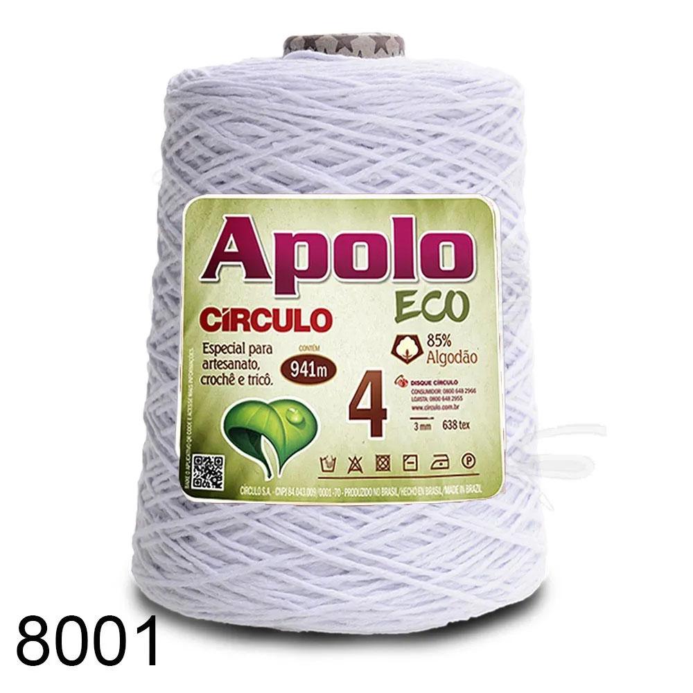 Barbante Apolo Círculo N°4 - 600g Cor 8001