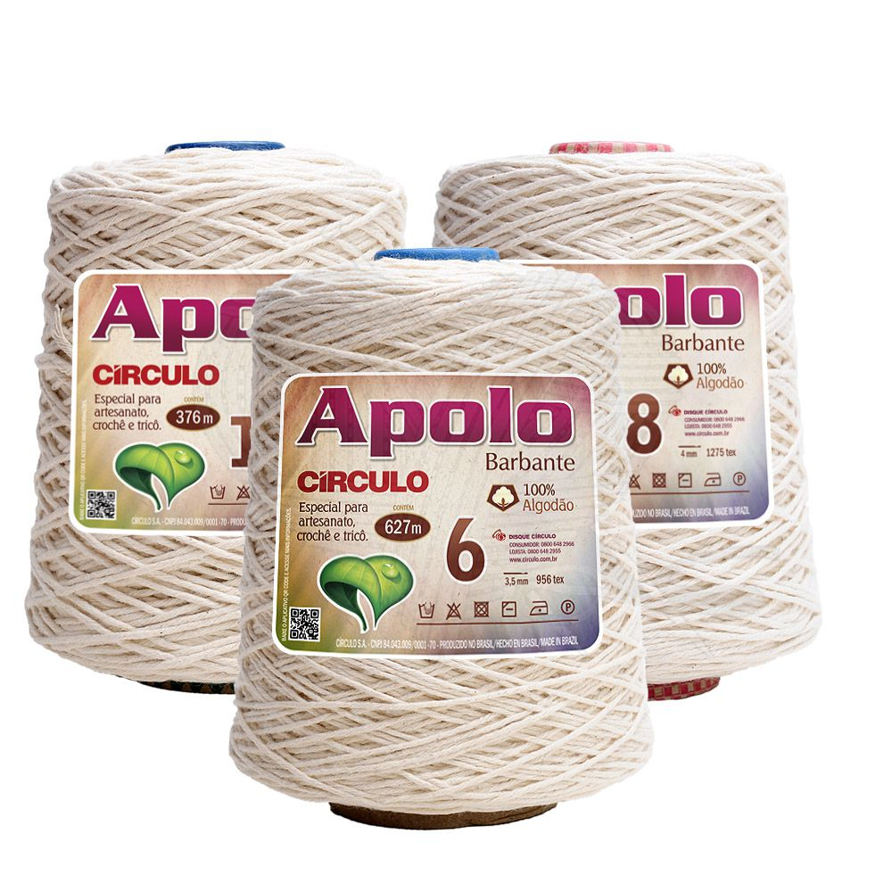 Barbante Apolo Eco Círculo Cru 600g