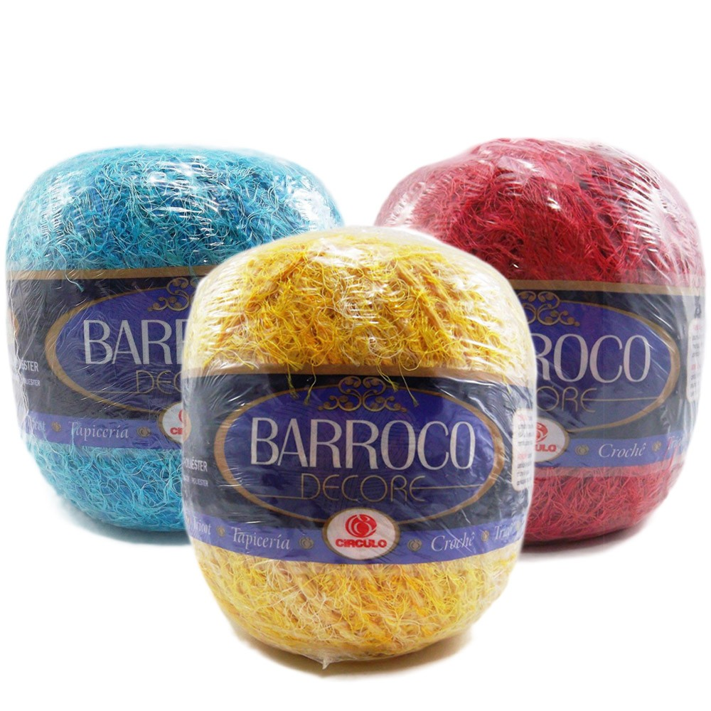 Barbante Barroco Decore Multicolor 103mts 160g  - Bastex Artesanatos