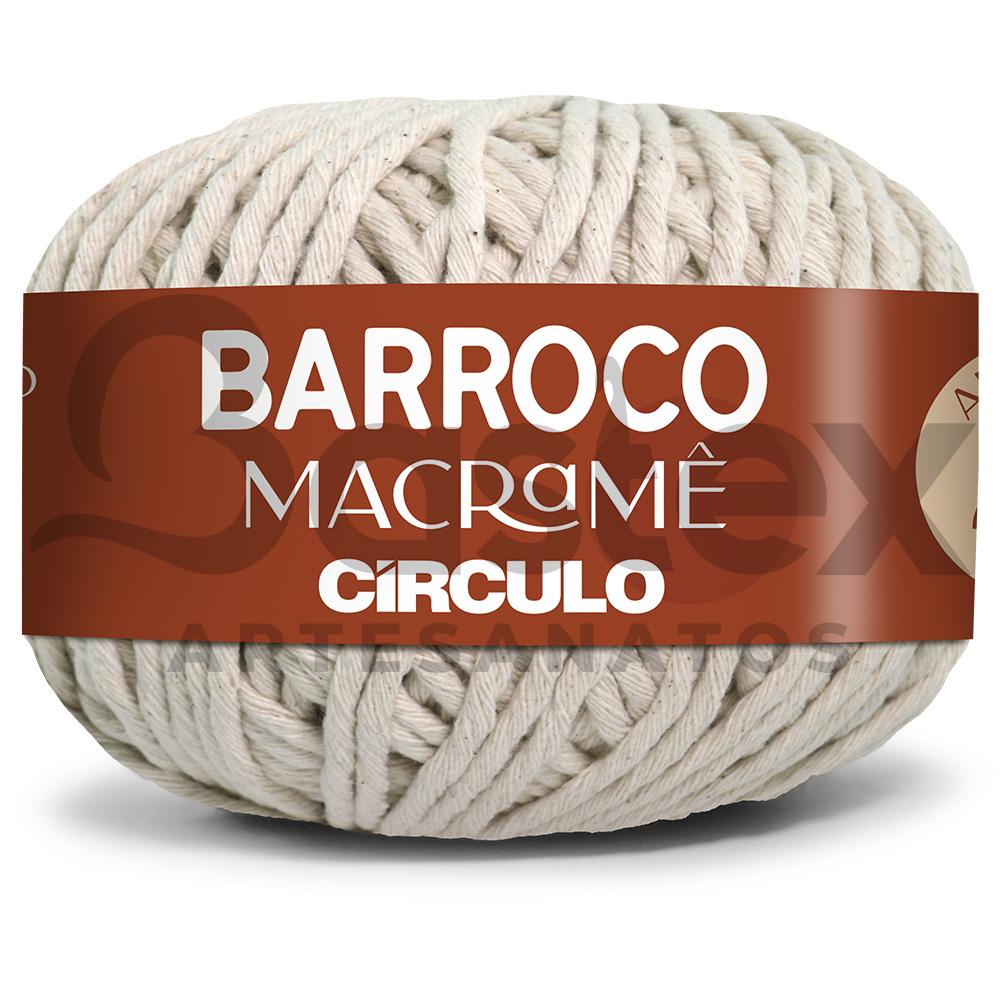 Barbante Barroco Macramê Circulo Cru 24 Fios 500g