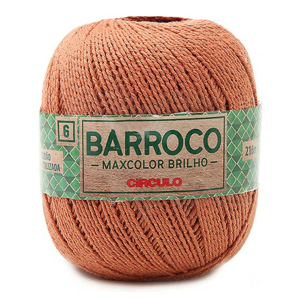 Barbante Barroco Maxcolor Brilho Bronze 200g
