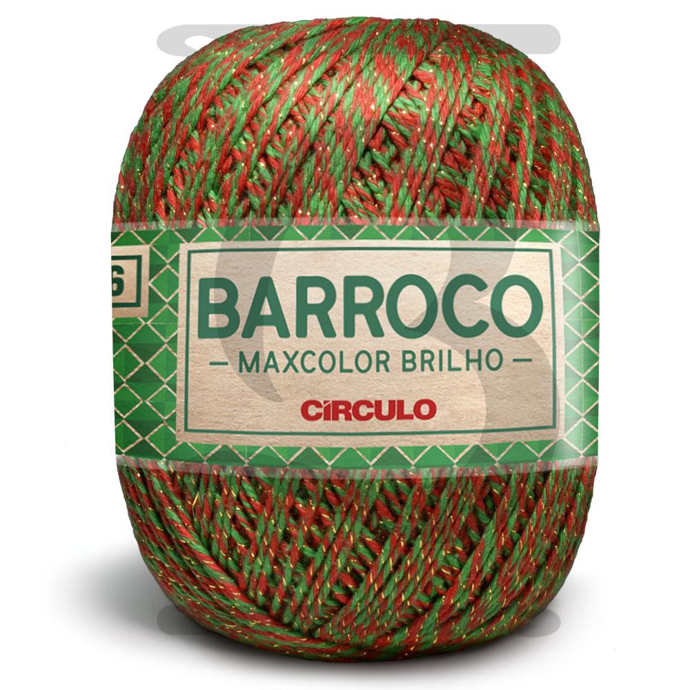 Barbante Barroco Maxcolor Brilho Ouro Especial Natal N°6 - 200g Cor 9818