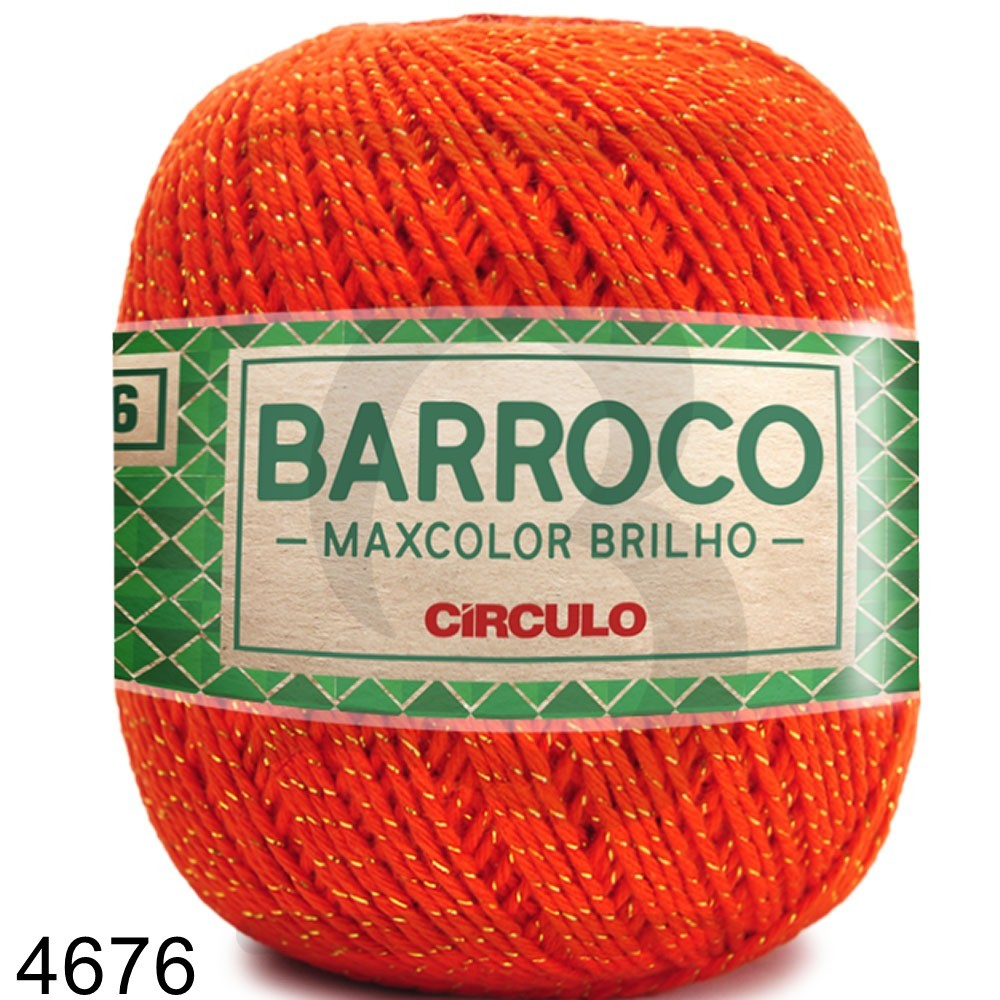 Barbante Barroco MaxColor Brilho Ouro Nº 6 - 200g