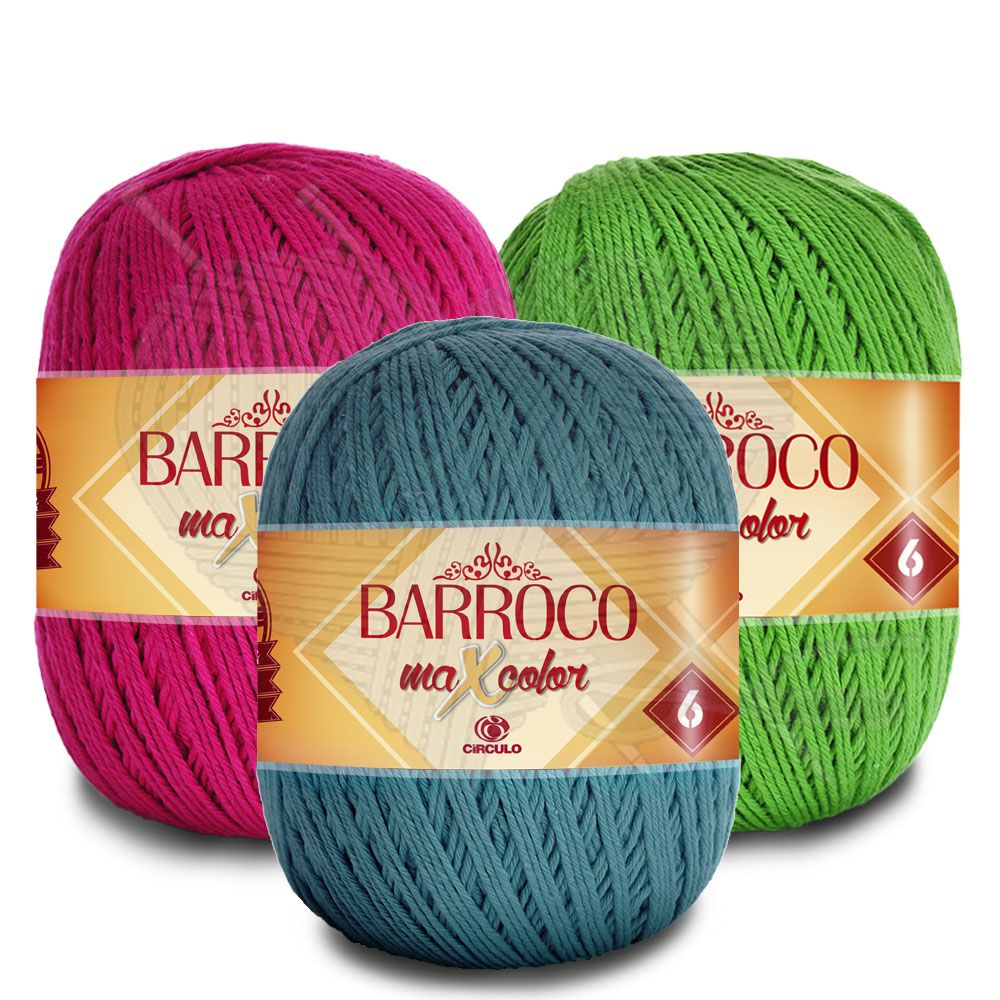 Barbante Barroco MaxColor Nº 6 - 400g