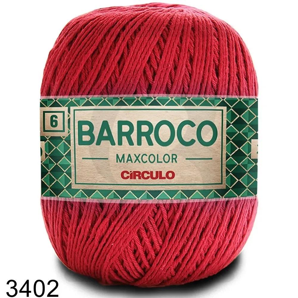Barbante Barroco MaxColor Nº 6 - 400g Cor 3402 Vermelho Círculo