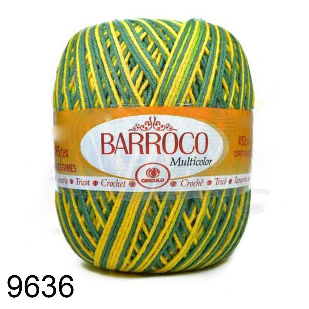 Barbante Barroco Multicolor 400g - Cor 9636  - Bastex Artesanatos