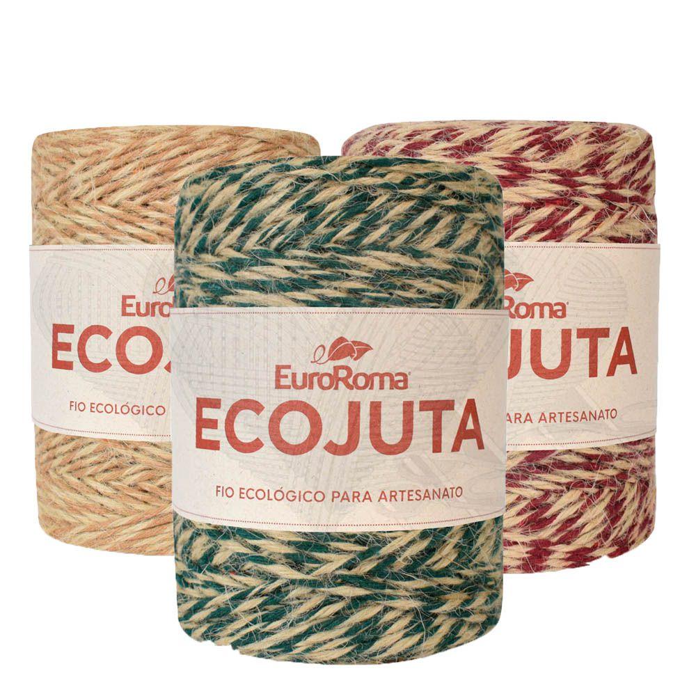 Barbante EcoJuta EuroRoma  400g  - Bastex Artesanatos
