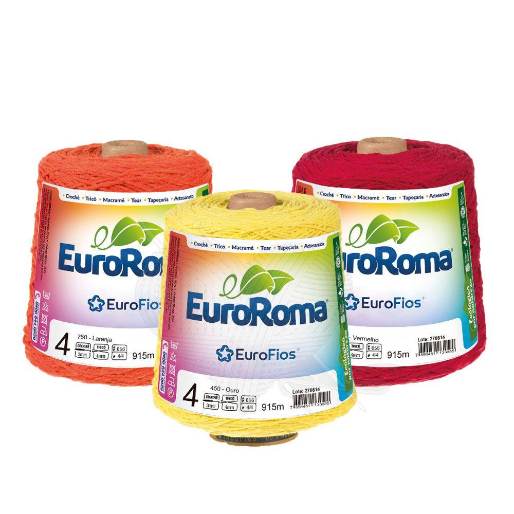 Barbante EuroRoma Colorido N°4 - 600g
