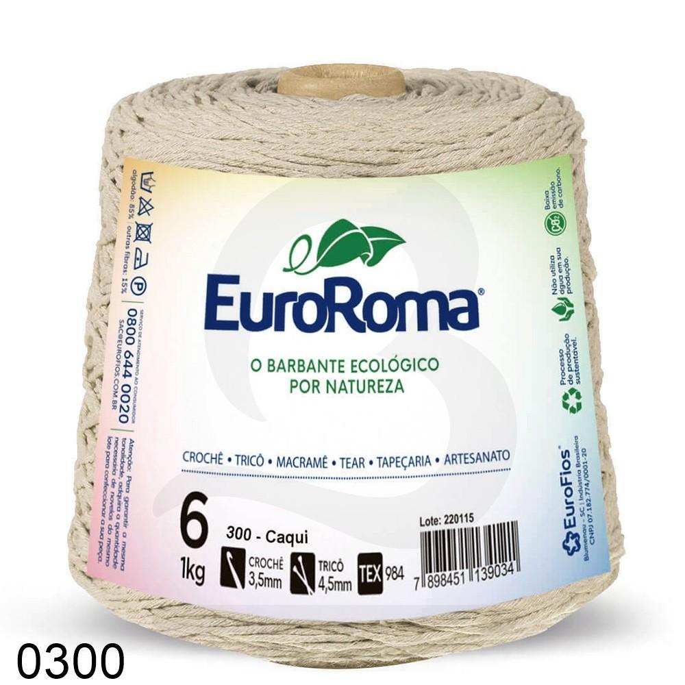 Barbante EuroRoma Colorido N°6 - 1kg Cor 300 Caqui