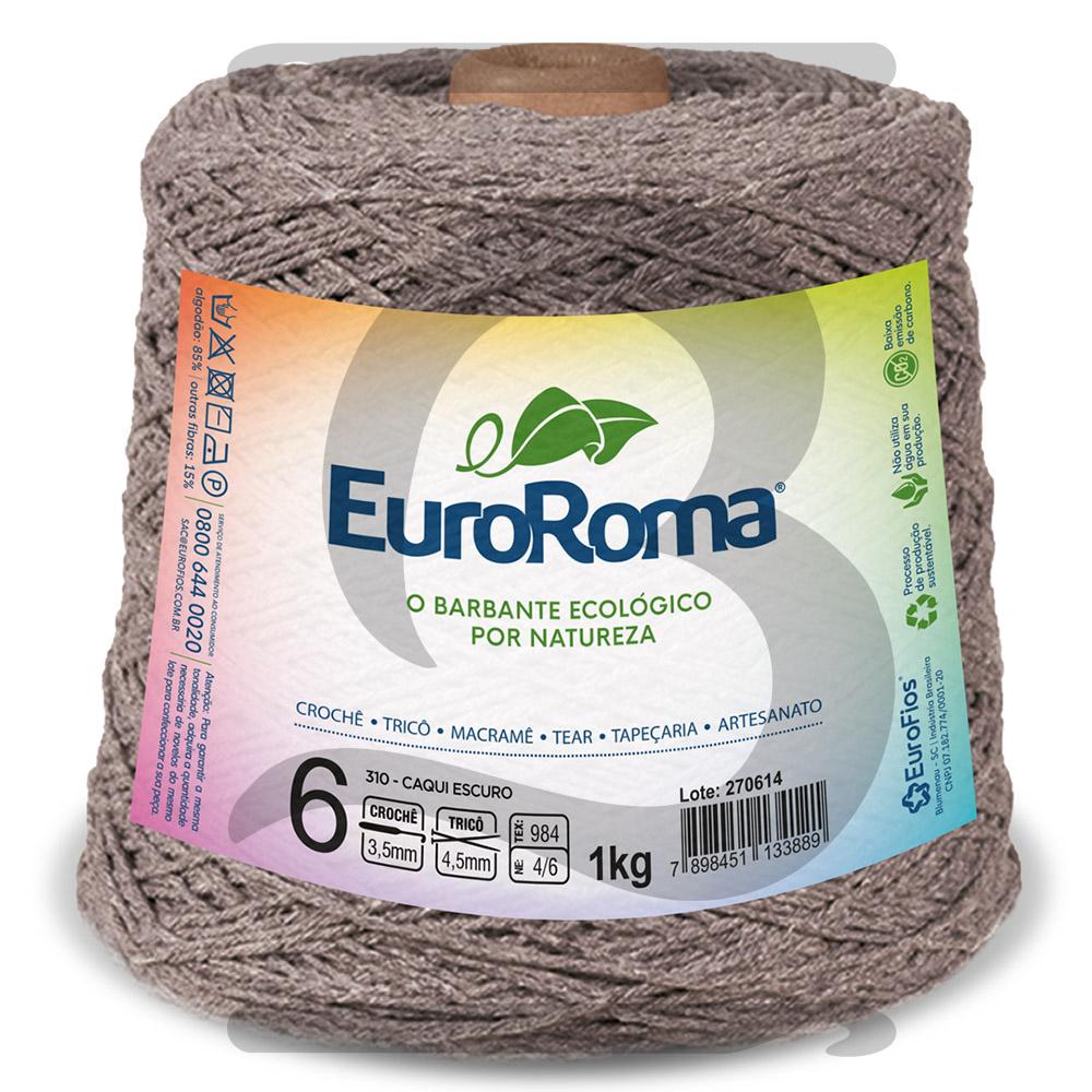 Barbante EuroRoma Colorido N°6 - 1kg Cor 310 Caqui Escuro