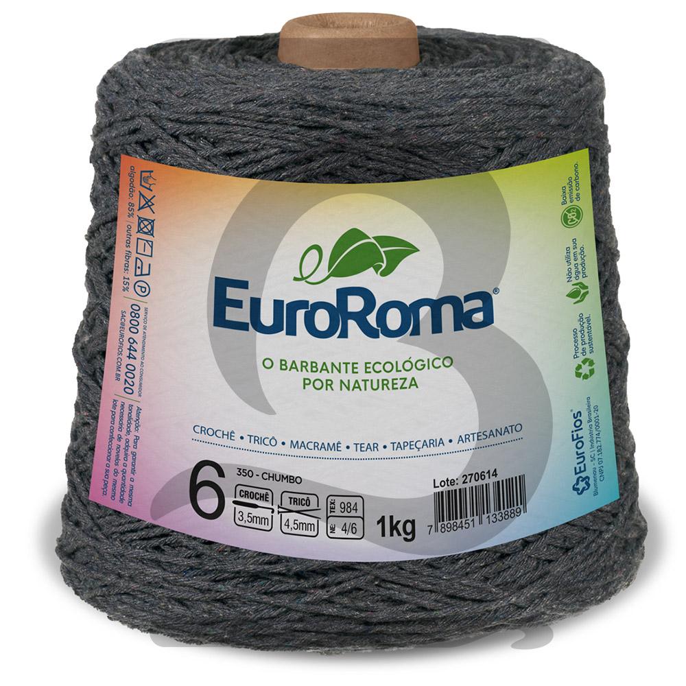 Barbante EuroRoma Colorido N°6 - 1kg Cor 350 Chumbo