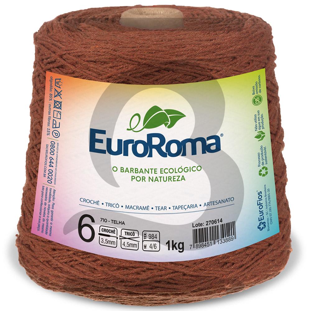 Barbante EuroRoma Colorido N°6 - 1kg Cor 710 Telha
