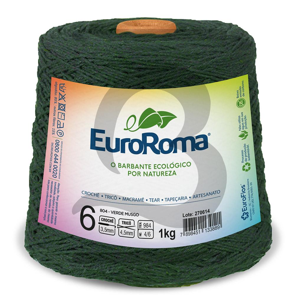 Barbante EuroRoma Colorido N°6 - 1kg Cor 804 Verde Musgo