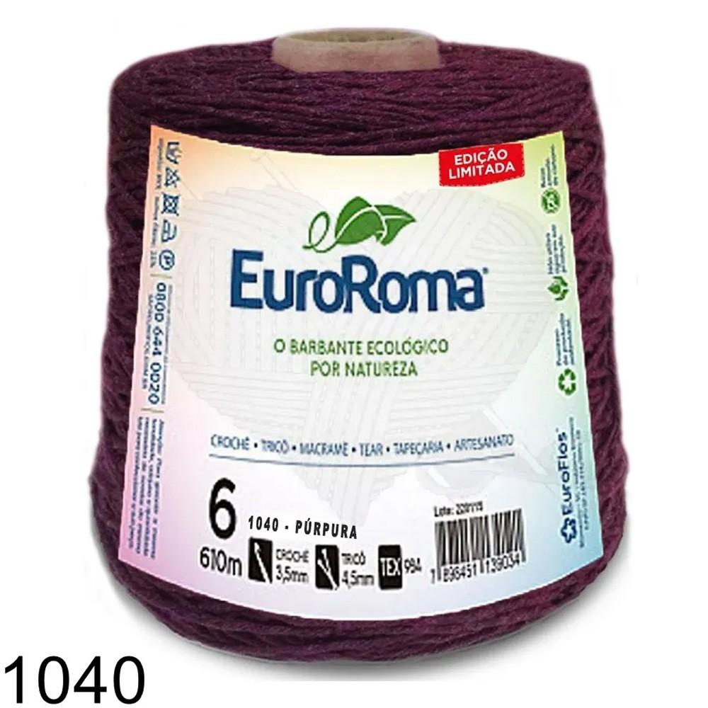Barbante EuroRoma Colorido N°6 - 600g Cor 1040 Púrpura