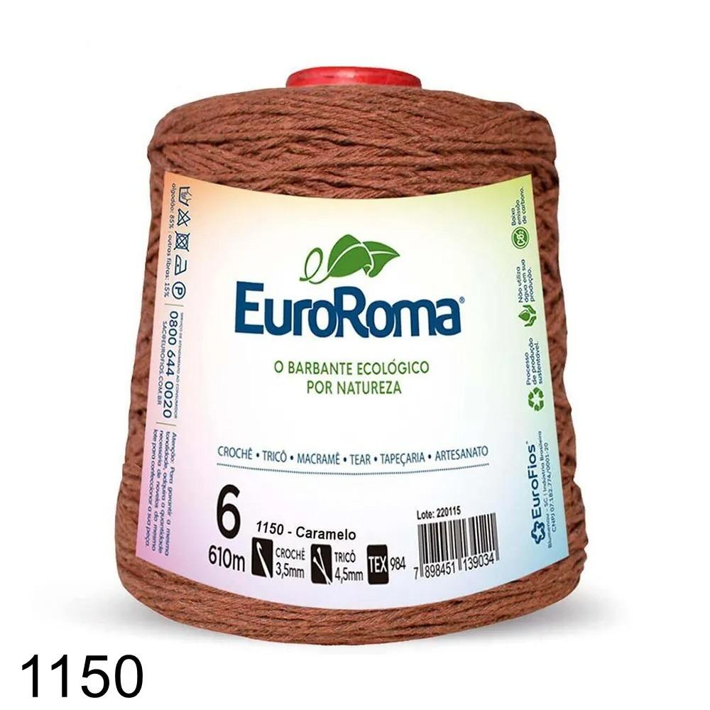 Barbante EuroRoma Colorido N°6 - 600g Cor 1150 Caramelo