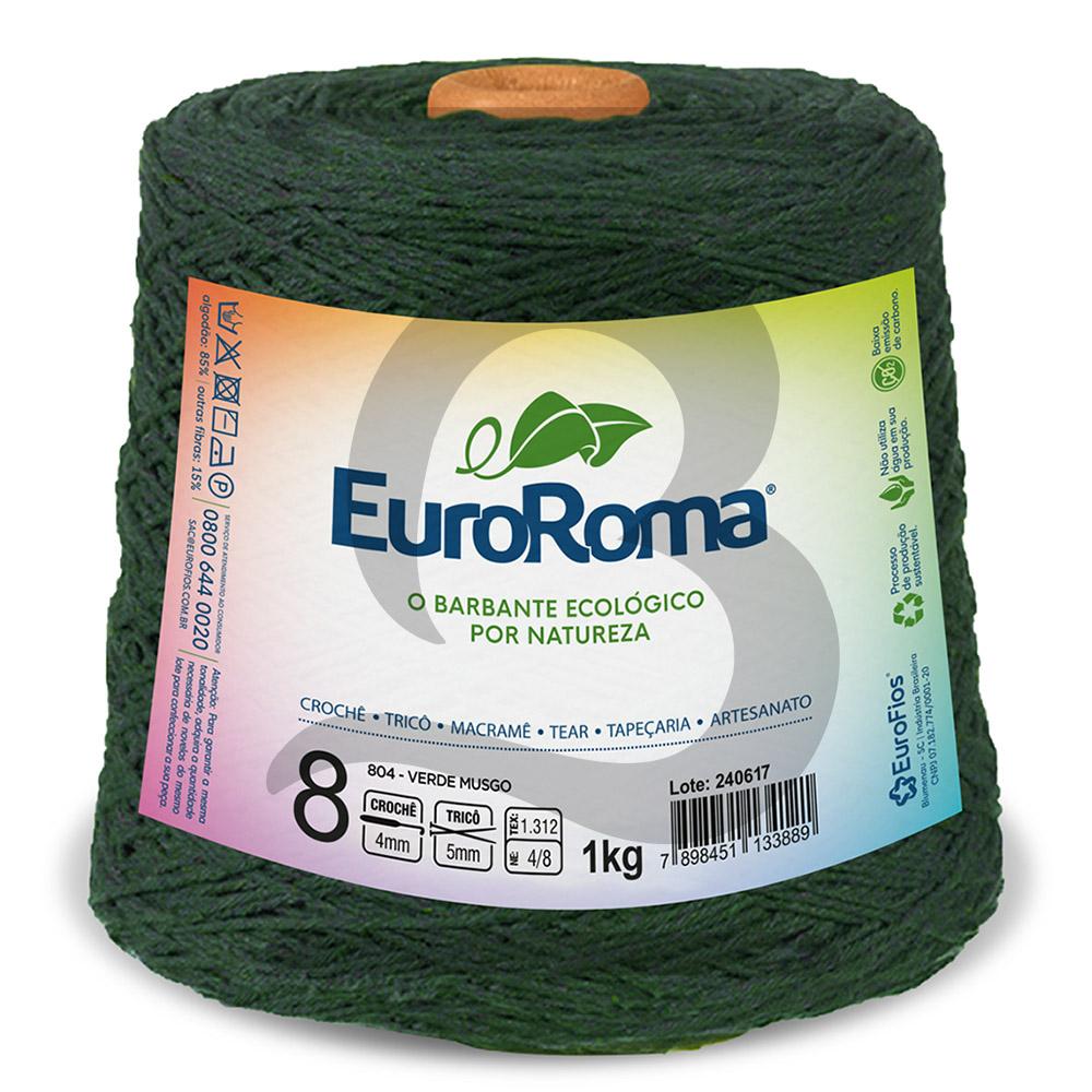 Barbante EuroRoma Colorido N°8 - 1kg Cor 804 Verde Musgo