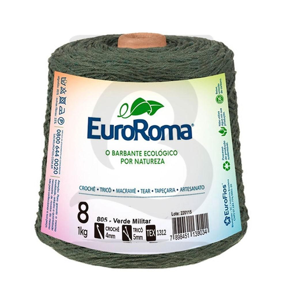 Barbante EuroRoma Colorido N°8 - 1kg Cor 805 Verde Militar