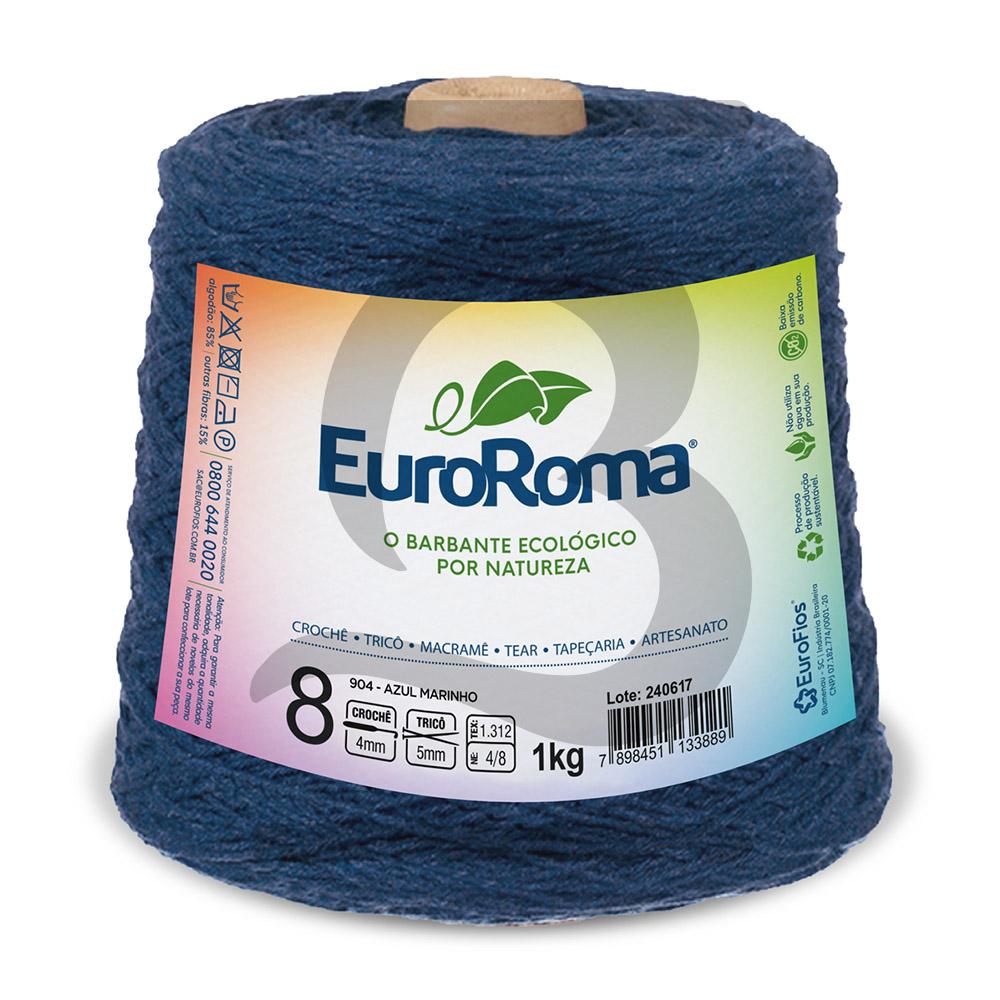 Barbante EuroRoma Colorido N°8 - 1kg Cor 904 Azul Marinho