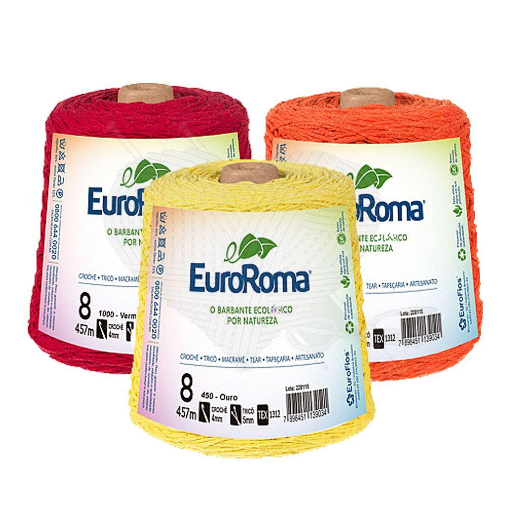Barbante EuroRoma Colorido N°8 - 600g