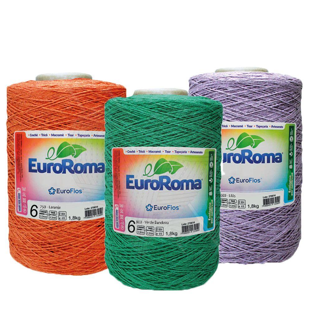 Barbante EuroRoma Colorido N° 6 - 1,8 Kg  - Bastex Artesanatos