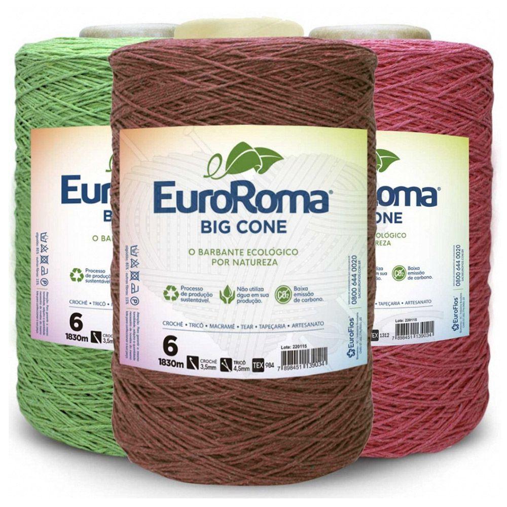 Barbante EuroRoma Colorido N° 6 - 1,8Kg  - Bastex Artesanatos