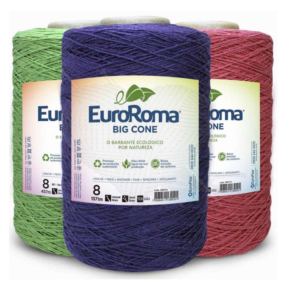 Barbante EuroRoma Colorido N° 8 - 1,8Kg  - Bastex Artesanatos