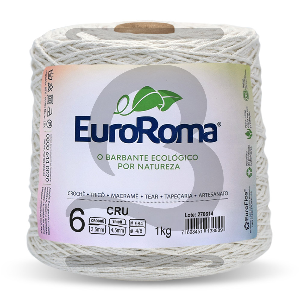 Barbante EuroRoma Cru N° 6 - 1kg