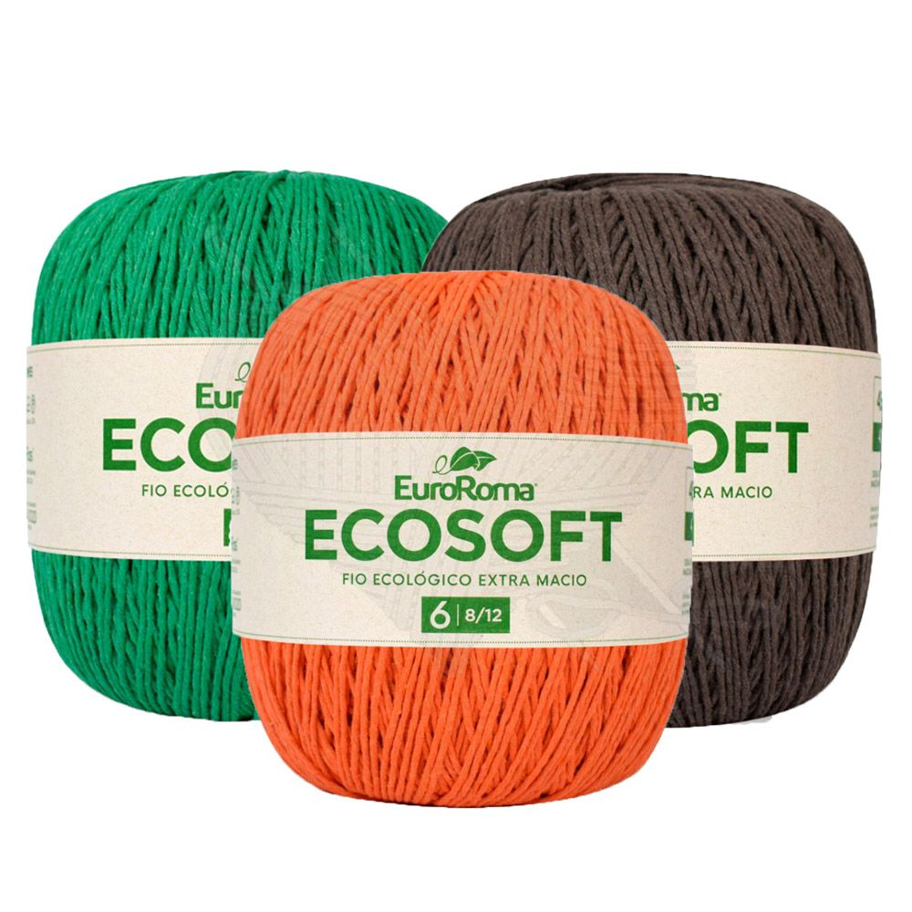 Barbante EuroRoma Ecosoft 422g  - Bastex Artesanatos