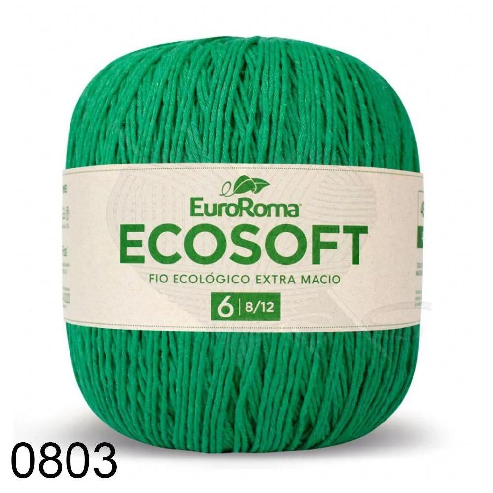 Barbante EuroRoma Ecosoft 422g Cor 803 Verde Bandeira