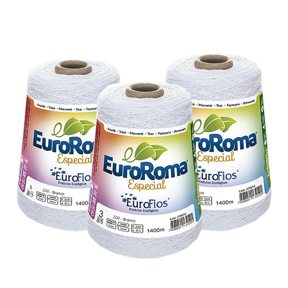 Barbante EuroRoma Especial Branco 500g