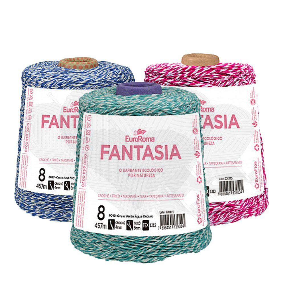 Barbante EuroRoma Fantasia N°8 - 600g  - Bastex Artesanatos